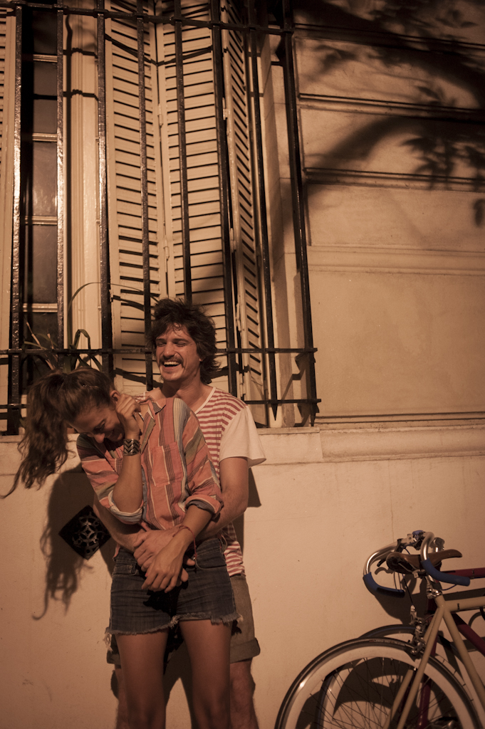 Caro and Alf play with each other and make themselves laugh in the streets of Buenos Aires. January, 2013
